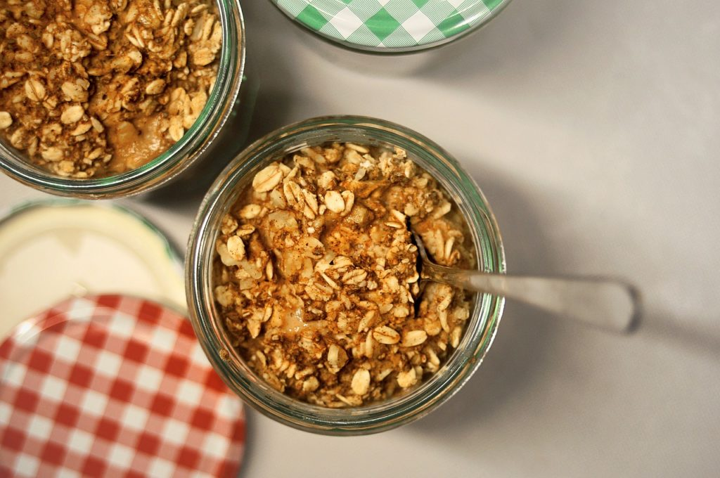 Baked homemade treats with rolled oats