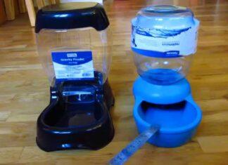 Self-Dispensing Gravity Pet Feeder and Waterer